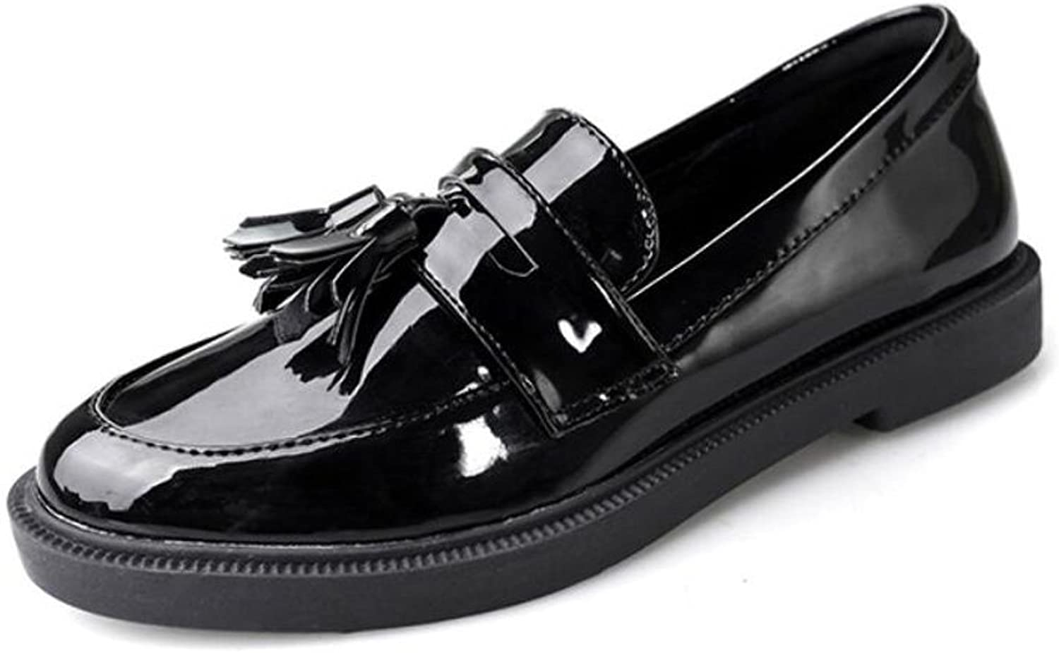 Ladies Oxford shoes Autumn Flats Heel Student Vintage Tassel Loafers shoes