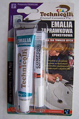 Emaille-Reparaturmasse für Keramik-Badewannen, Waschbecken, Duschwannen, Urinale, Gasherde, Waschmaschinen