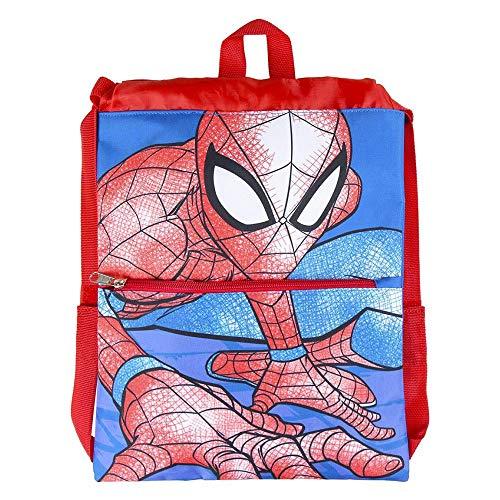 Cerdá, Saquito Guardería de Spiderman-Licencia Oficial Marvel Studios Unisex niños, Multicolor, 270X330MM