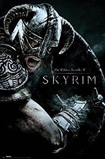 The Elder Scrolls V: Skyrim - Gaming Poster/Print (Attack) (Size: 24 inches x 36 inches)