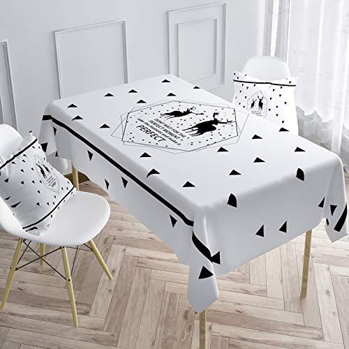 sans_marque Mantel de mesa, cubierta de mesa, adecuado para mesa de buffet, fiesta, cena de vacaciones, celebración de boda mantel140 x 140 cm