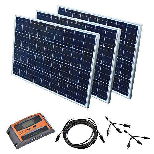 Solar Set 12 V Solaranlage Solarkit PV Inselanlage Wohnmobil Solarmodul Laderegler, Wattzahl:300 W