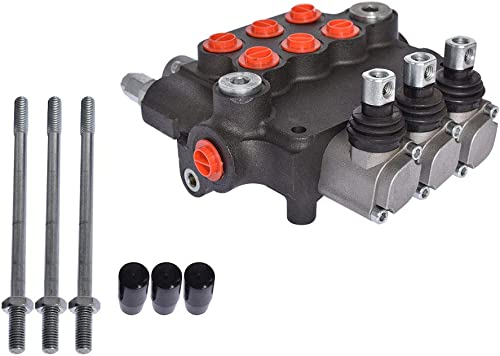 discount findmall Hydraulic Valve Hydraulic Directional Control Valve Double Acting Valve 3 new arrival Spool 21 GPM 3625 PSI SAE Ports for Small Tractors popular Tractors Loaders Log Splitters online sale