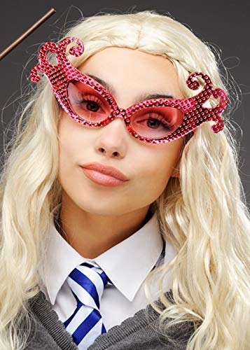 Magic Box Int. Luna Lovegood Style Pink Sparkle Fancy Brille