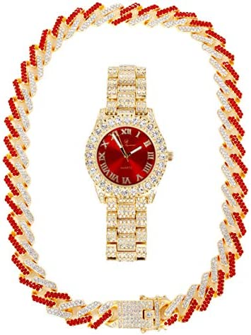 Ice on Blast Bling ed Out Hip Hop Rolly Looks with Ice on Watch Trim and Band with Matching product image