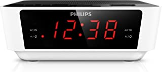 Philips AJ3115/05 Alarm Clock Radio (FM Radio, Digital Tuner, Built-in Alarm, Dual Alarms, Sleep Timer, Big Display) White...