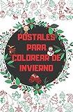 Postales Para Colorear De Invierno: Regalo Perfecto Para Adultos Niñas Postal Navidad Familia Vintage Hecho a Mano