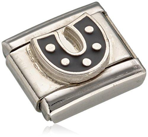 Nomination Damen-Charm Composable Hufeisen Edelstahl Emaille - 330202/08