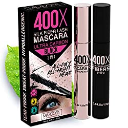top rated Mascara 400X Pash made from pure silk fibers [Ultra Black Volume and Length], Long and thick eyelashes, … 2021