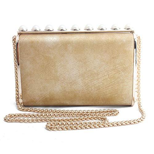 Damen Abendtaschen Crossbody Handtaschen Clutches Geldbörse für Braut Hochzeit Party Gr. One size, gold