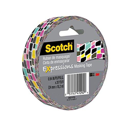 Scotch Expressions Masking Tape, 0.94 Inch x 20 Yards, Brick Graffiti