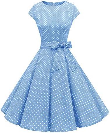 Dressystar DS1956 Women Vintage 1950s Retro Rockabilly Prom Dresses Cap Sleeve S Sky Blue product image