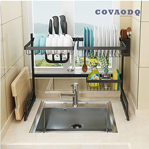 Dish Drying Rack Over Sink, Drainer Shelf for Kitchen Drying Rack...