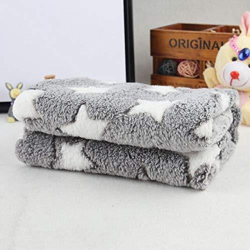 LoyalS Soft Cat Puppy Dog Sleep Blanket Pad Pet Shop Dog Acessorios Star Print Fleece Dog Mat Pet Accessories 2 Size