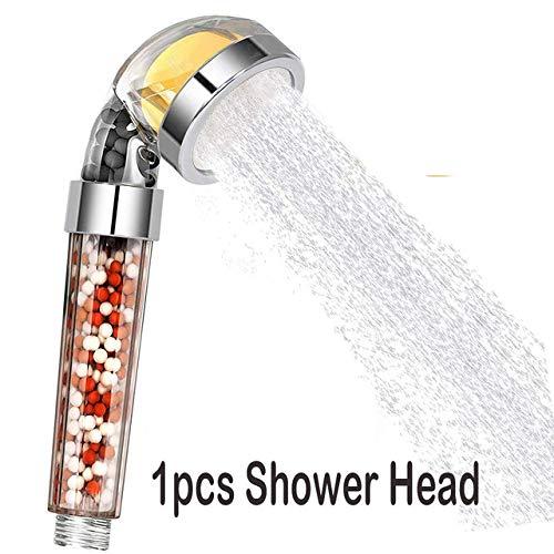 Water-Saving Environmentally Friendly Lemon Vitamin C Aroma Egative Ion Mineral Beads Filter Shower Head for Bathroom