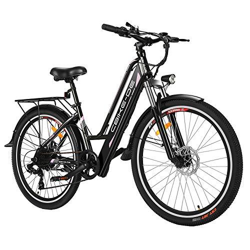Tooluck Vélo électrique, 26 Pouces 250W e-Bike en Alliage d'aluminium 36V 8A vélo de Montagne avec siège arrière pour Adulte Noir