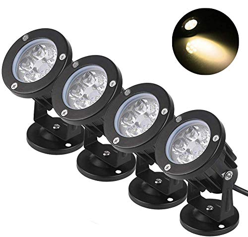 BLOOMWIN 4 X Lampade Proiettore Spotlight Orientabile Esterno Bianco Caldo IP65 5W 220V per Esterno Giardino