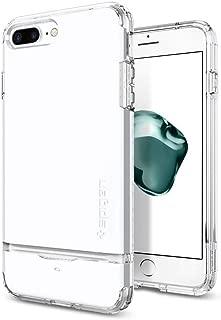 【Spigen】 スマホケース iPhone7 Plus ケース 対応 IC カード収納 米軍MIL規格取得 落下 衝撃 吸収 フリップ・アーマー 043CS21047 (ジェット・ホワイト)