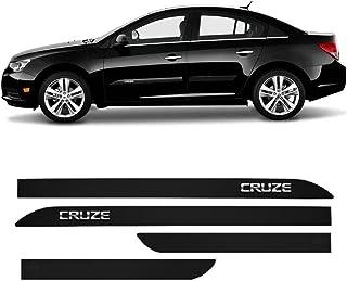 Friso Lateral Chevrolet Cruze 2015 a 2020 Preto Carbon Cromado Clickcar