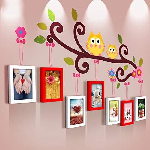 GY fotolijst Muursticker, Muurmontage Display Collage Fotomuur, Met Glazen Raam Creatieve Stickers, Muurdecoratie Beeld Muur, 3 Kleuren, 7 Sets