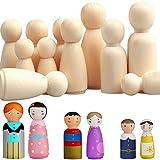 Mengger bamboline in Legno Femmina & Maschio Grande Famiglia Incompiuto per Giocattolo Creazioni Artistiche e Painted Wedding Cake Fai Da Te 30 pezzi