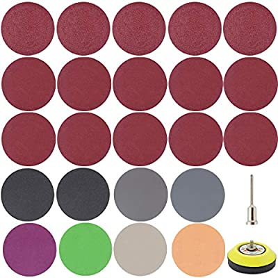 300 PCS 3 Inch Sandpaper, GOH DODD Wet Dry Sander Sheets with Backing Pad and Soft Foam Buffering Pad, 60 to 10000 Grits Grinding Abrasive Sanding Disc for Wood Metal Mirror Jewelry Car