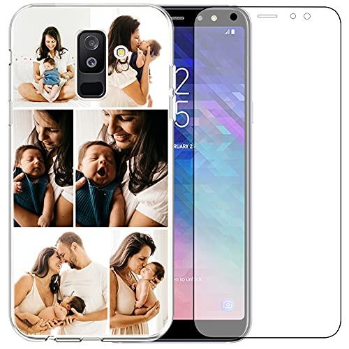 Carcasa de teléfono compatible con Samsung Galaxy A6 2018 (Clear Layuot 6 imágenes)