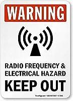安全標識屋外屋外のアートの装飾警告-無線周波数&電気危険警告金属錫金属通知通知警告通り