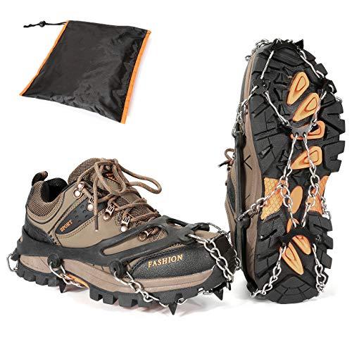 ACBungji Cadenas de nieve para botas de nieve, antideslizantes, para hielo, nieve, senderismo