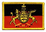 Aufnäher Patch Flagge Deutschland Königreich Württemberg - 8 x 6 cm