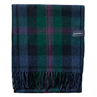 The Tartan Blanket Co. Recycled Wool Blanket Bannockbane Silver Tartan (150cm x 190cm)