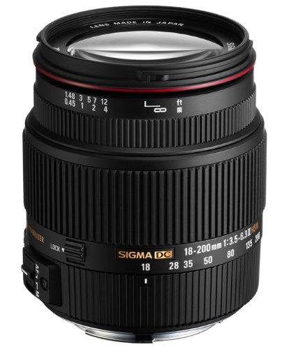 Sigma 18-200 mm F3,5-6,3 II DC HSM-Objektiv (62 mm Filterdurchmesser) für Pentax Objektivbajonett