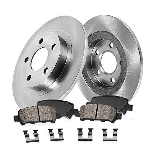 Rear Premium OE Brake Rotors and Ceramic Pads PAIR SET FOR 2007 NISSAN XTERRA