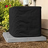SugarHouse Outdoor Air Conditioner Cover - Ultimate Sunbrella Canvas - Made in The USA - 20-Year Warranty - 36' x 36' x 38' - Black