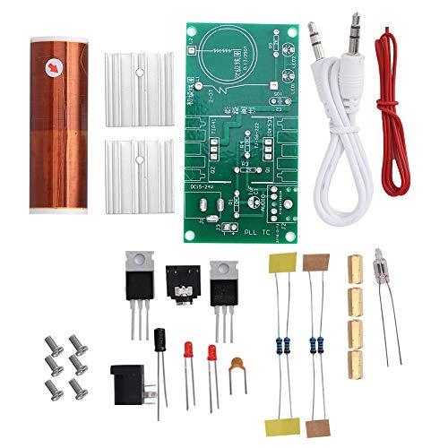 NCONCO Tesla Coil Module Plasma Speaker Unassembled Mini Kit Electrónico Herramienta 15W DC 15 8209; 24V 2