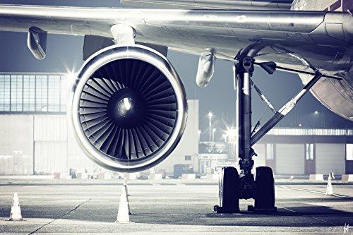 TOIS ART TA1047-2 Cuadro en acrílico Avión 90 x 60 cm