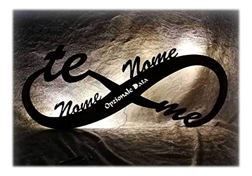 Schlummerlicht24 luce Regali Amore infinito Regalo Anniversario Matrimonio con Nome per Ragazza Ragazzo Donna per l'anniversario San Valentino