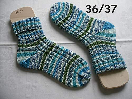 Handgestrickte Strümpfe Gr. 36/37, Socken gestrickt, kratzfreie Wolle