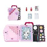 Set de cosméticos para niños caja de pintura de maquillaje de princesa tablero de dibujo multifuncional juguete de niña