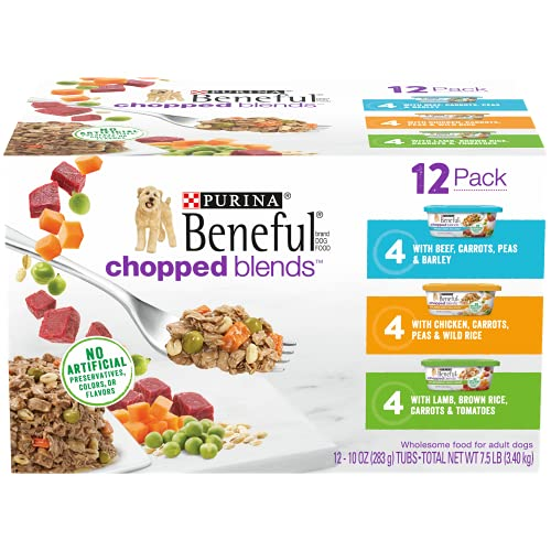 Purina Beneful Wet Dog Food Variety Pack, Chopped Blends - (12) 10 oz....