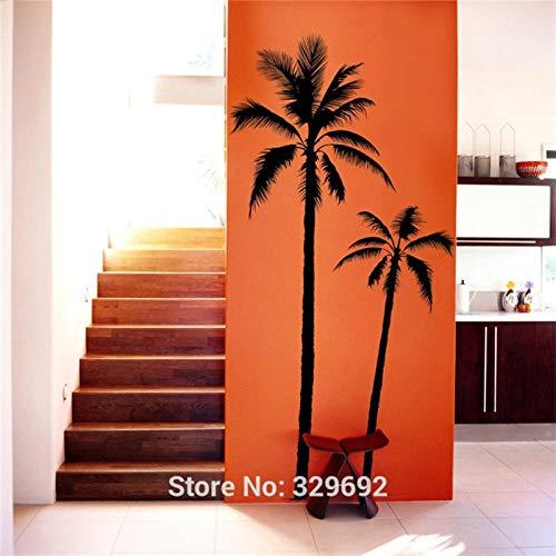 FPUYB Pixnor Palma de Coco en la Playa palmir Surf Wall Art Decal Sticker Home Mural Pared móvil 68x150cm
