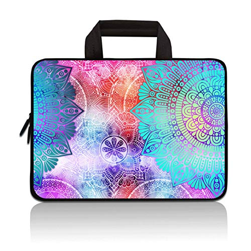 Laptop-Tragetasche für Notebooks, Ultrabook, Tablet, Neopren, kompatibel mit Samsung Google Acer HP Dell Asus (Mandala Arts)