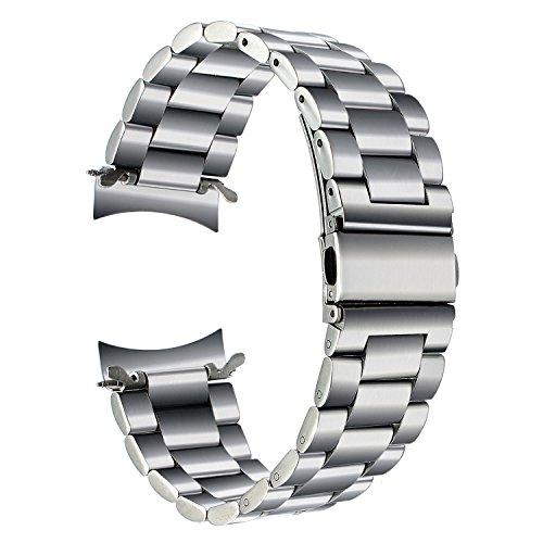 TRUMiRR para Samsung Gear S3 Classic/Frontier Correa de Reloj, 22 mm Pulsera de Repuesto para Correa de Acero Inoxidable Macizo Business Wristband para Samsung Gear S3 Sports Smartwatch