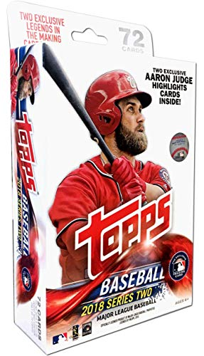 2018 Topps Series 2 Baseball EXCLUSIVE Factory Sealed HUGE 72 Card HANGER...