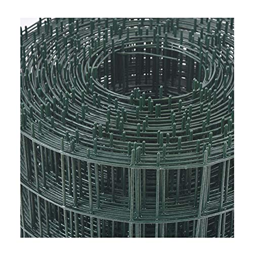 LJIANW Plastic Fencing, Chicken Wire Net, PVC Coated Mesh Size 60 X 60mm Galvanized Wire Mesh Fence Roll For Garden Poultry Net Rabbit Animal Fence (Color : 2.2mm, Size : 1.2x30m)