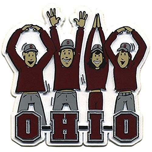 Victory Postcards NCAA Ohio State Buckeyes O-H-I-O Letters Rubber Magnet, 3