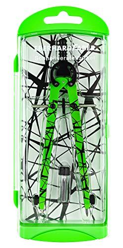 Eberhard Faber 571703 - Schnellverstellzirkel im Etui, neon grün