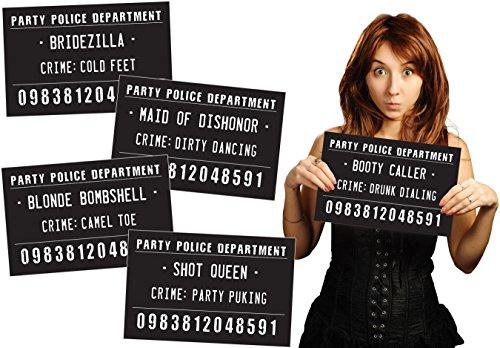 Funny Mugshot Sign Photobooth Selfie Props