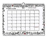 MIQUELRIUS - Calendario de Pared 2021 T Diary - Español, A3 420 x 296 mm con espacio para escribir y apuntar, Color blanco