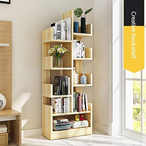Bibliothèques Bibliothèque simple et moderne Étagère pour enfants Armoire de rangement de salon créatif Casier simple (Color : Brown, Size : 47.6x20x133cm)
